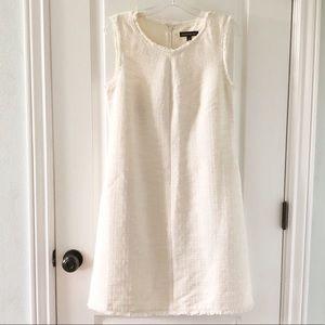 Banana Republic cream textured dress with pockets